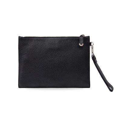 skull embossing clutch black